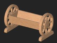3D wooden flowerpot