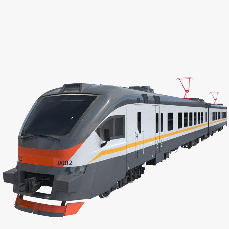 3D model passenger train ep2d