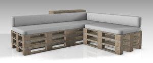 3D sofa palette model
