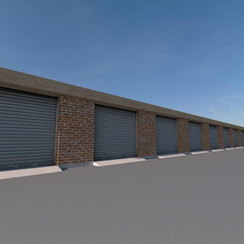 garages complex 3D model