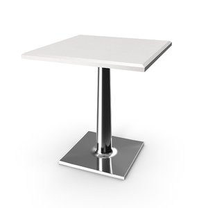 3D cafe restaurant table model