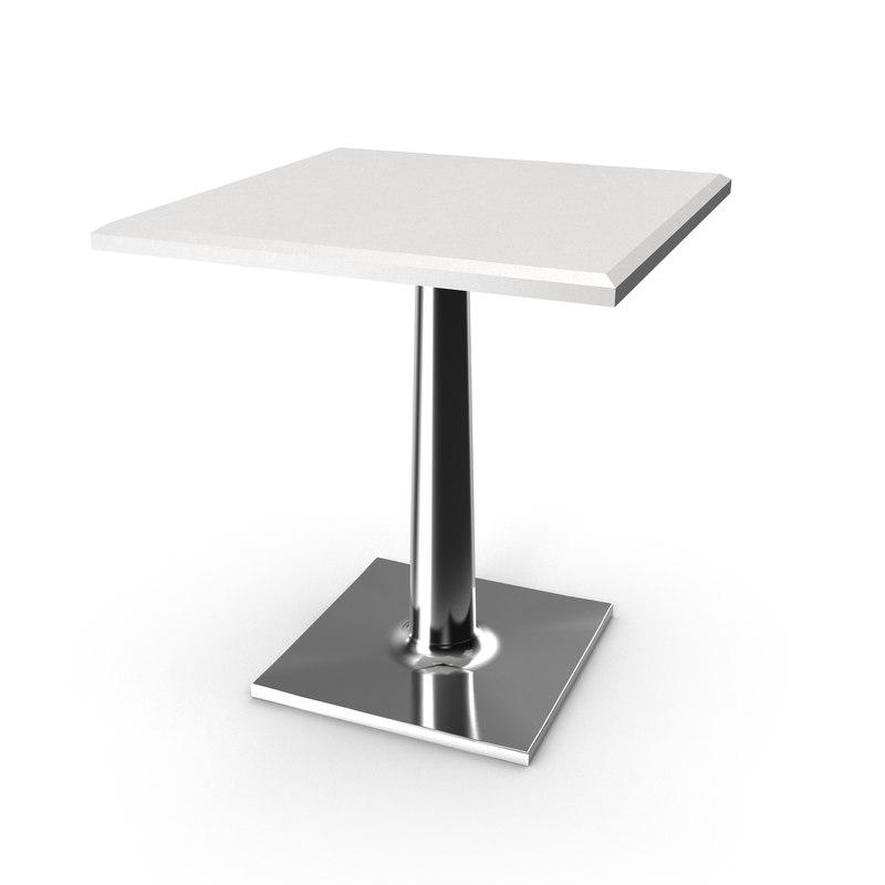 3D cafe restaurant table model