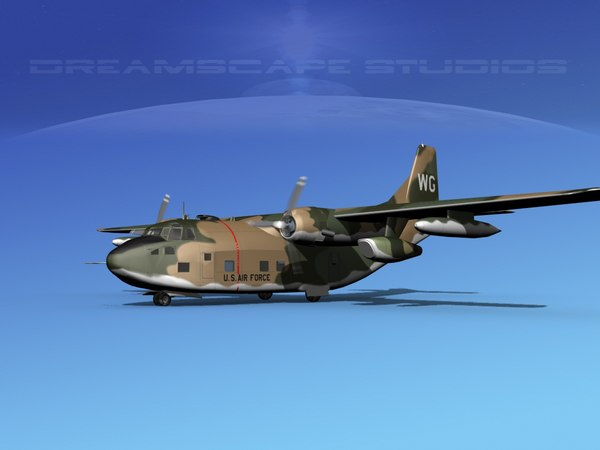 3D model aircraft fairchild c-123 provider