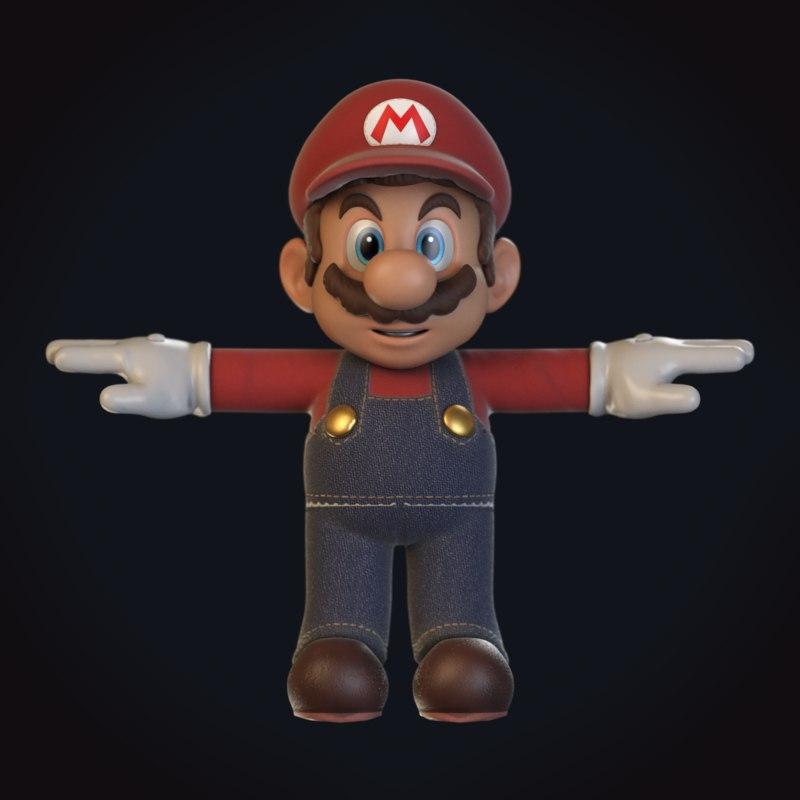 mario video character 3D model