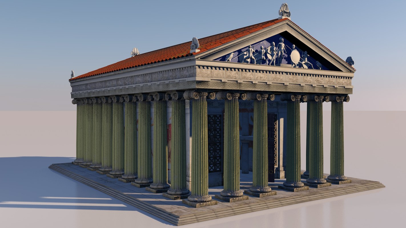 greek temple 3D