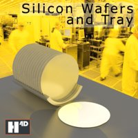 silicon semiconductor wafers tray 3D model