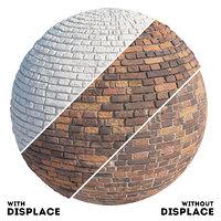 Old brick wall material