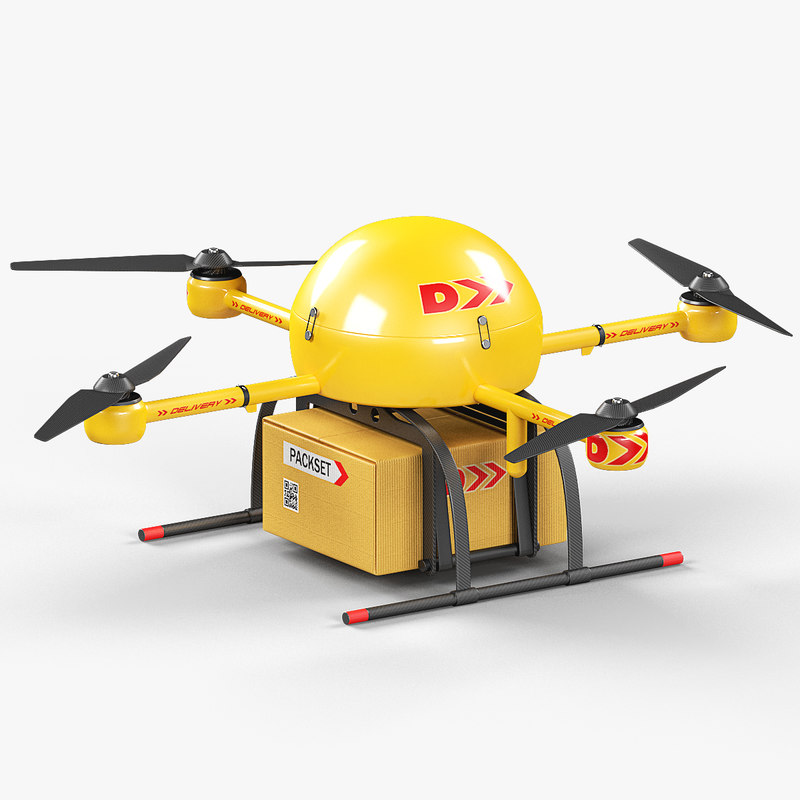 3D delivery drone model