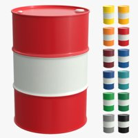Steel barrel (12 colors with white stripe)