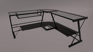 walker edison imperial l-shape 3D model