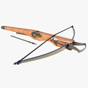 medieval crossbow animation 3D model