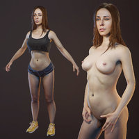 scanned girl body optimized model