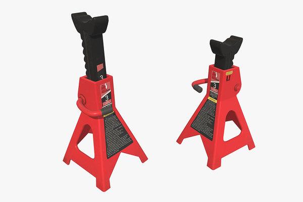 3D steel jack stand