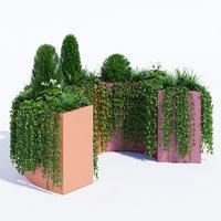 modular planters 3 3D model