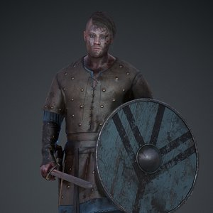 3D viking character pbr