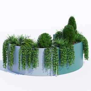 modular planters 2 3D model