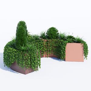 modular planters 1 3D