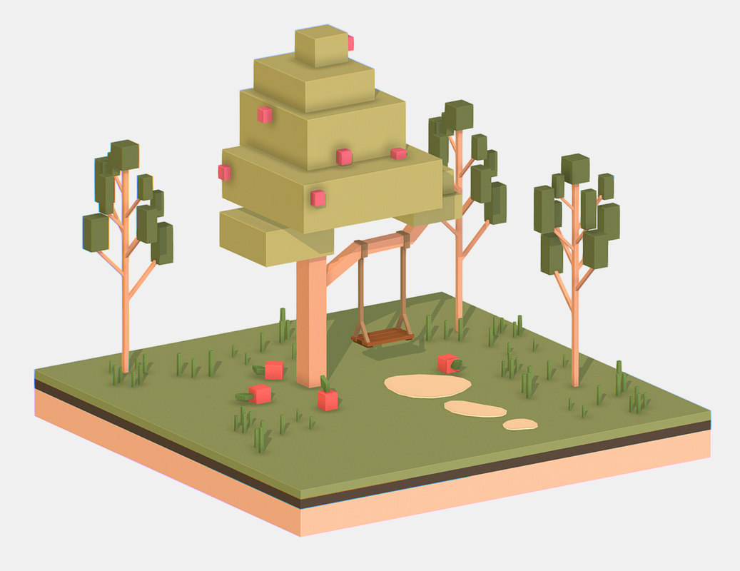 isometric polygonality 3D model