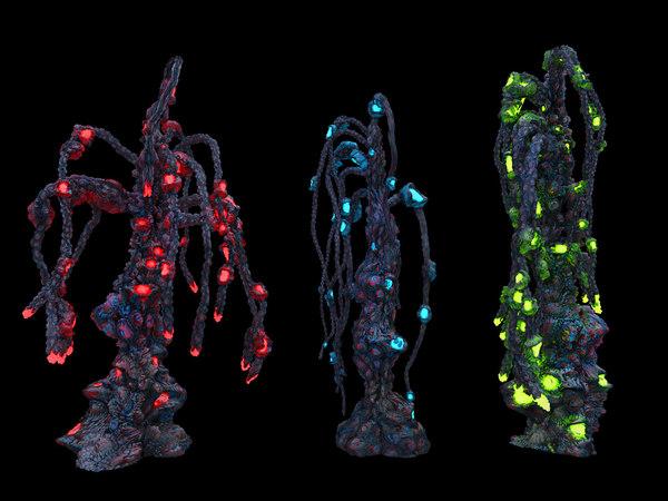 3D alien plants model