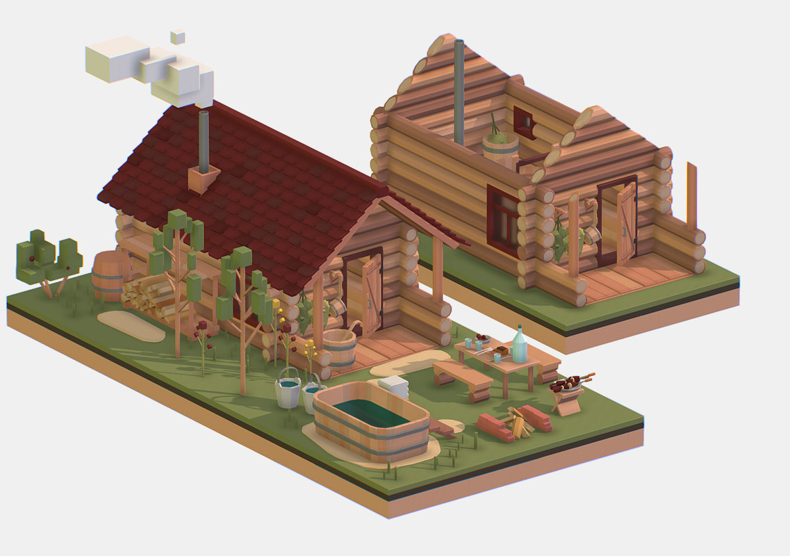isometric polygonality 3D model