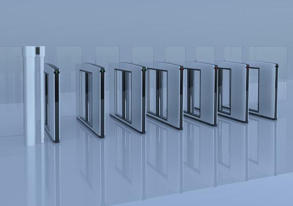 speed gate 3D model