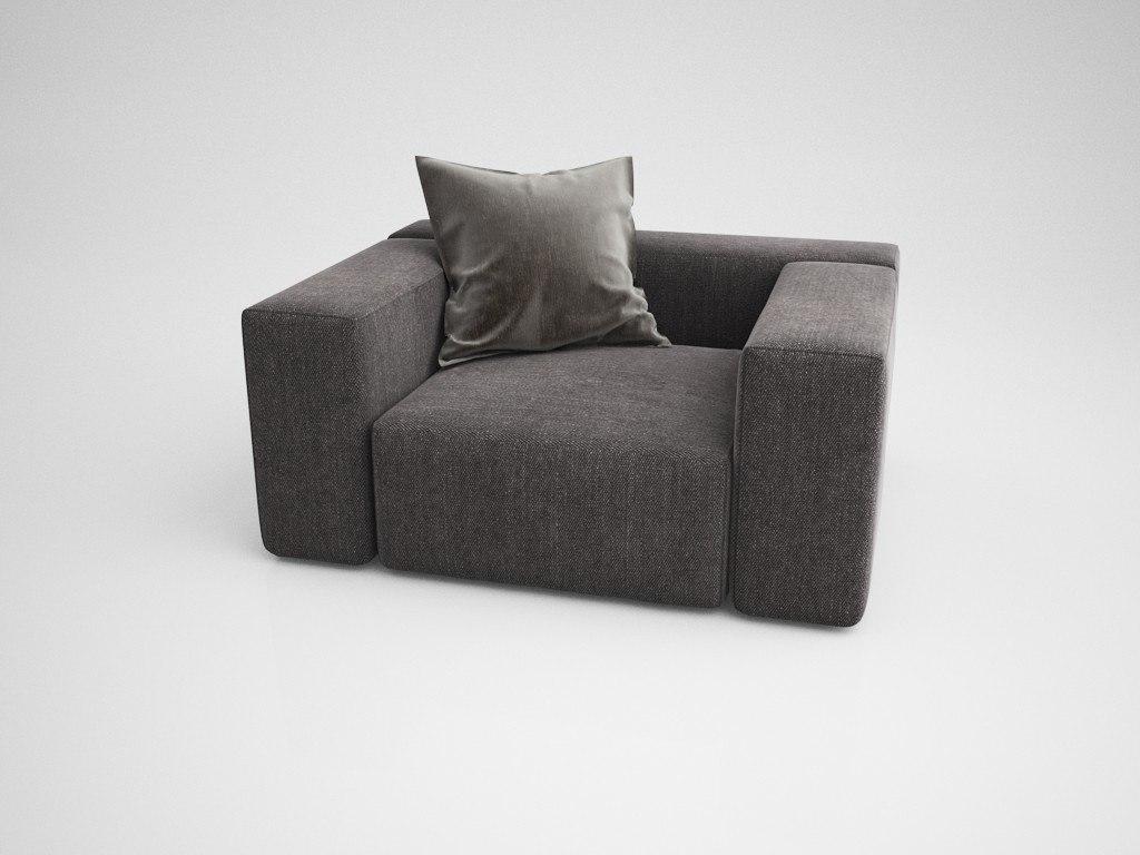 armchair kersten 3D