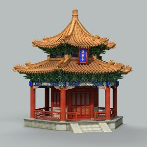 traditional chinese building 3D