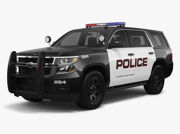 chevrolet tahoe 2018 police 3D model