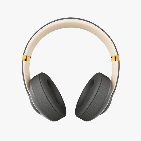3d Model Apple Beats Studio3 Wireless Turbosquid 1308076