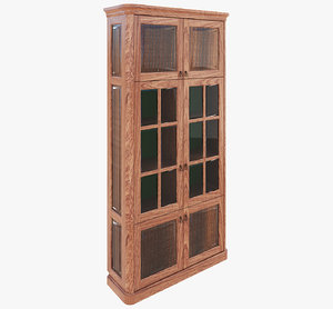 3D bookcase modeled model