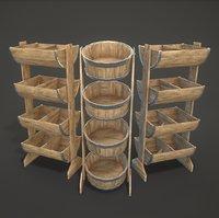bucket shelves model