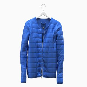 3D realistic jacket blue hanger model