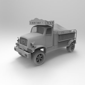 3D truck lorry