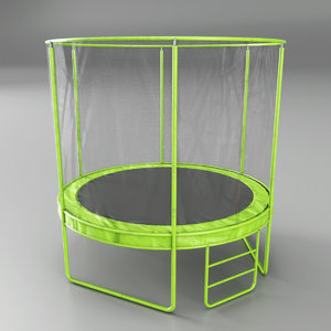 3D childrens trampoline model