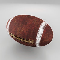 3D old american football