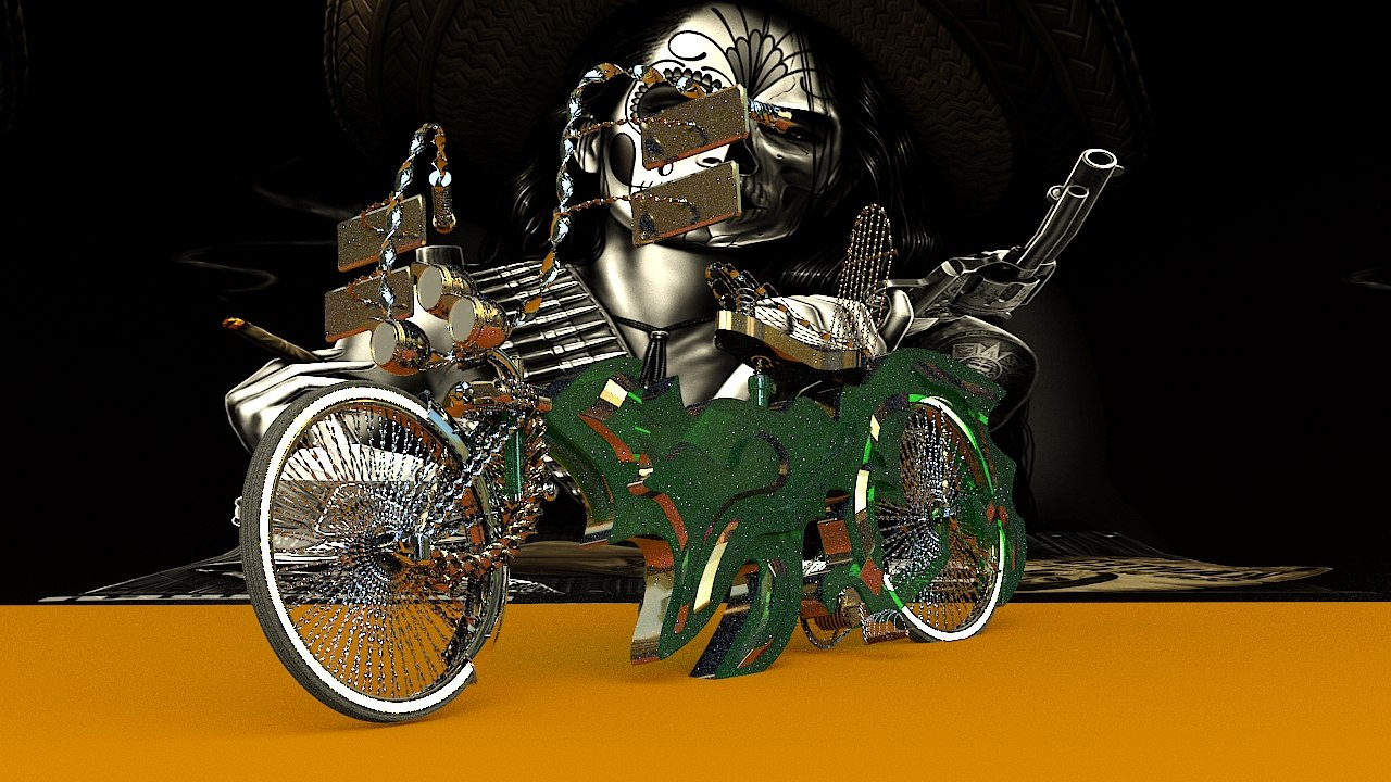 3D lowrider bike model