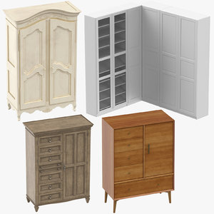 wardrobes classical traditional 3D model
