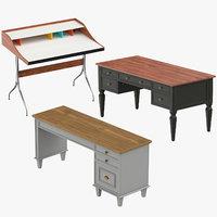 3D model desks