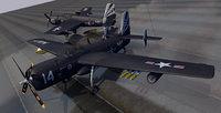 3D plane grumman af guardian