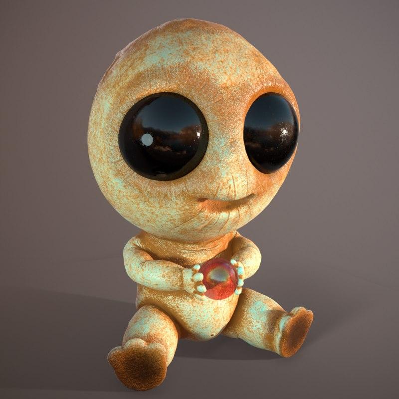 organizer cute monster 3D
