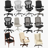 office chairs 3D