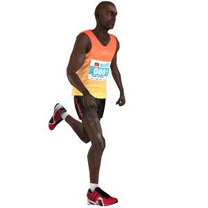 3D rigged marathon runner