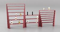 shop shelves 3D model