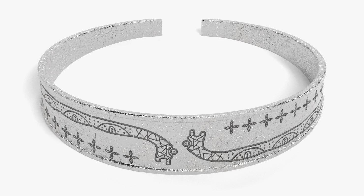 viking bracelet 3D model