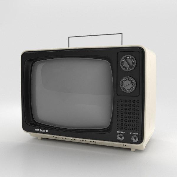 sampo b-1201bw tv 3D model