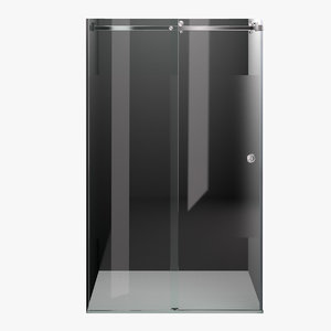 shower partition 3D model