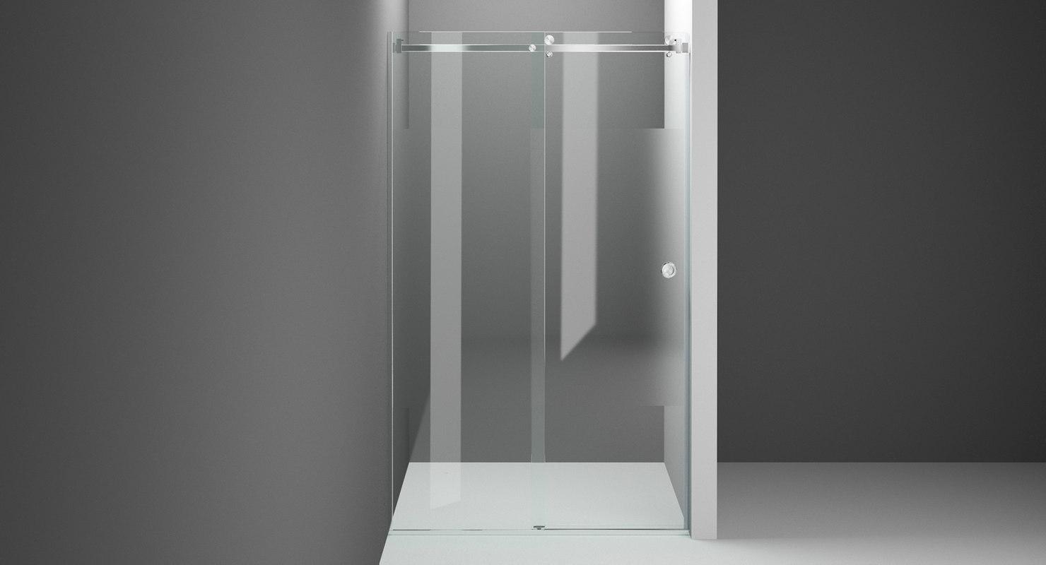 shower partition 3D model