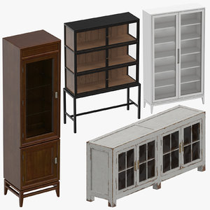 display cabinets 3D