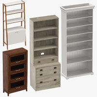 3D bookcases traditional classical model