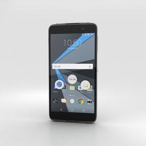 3D model blackberry dtek50 black